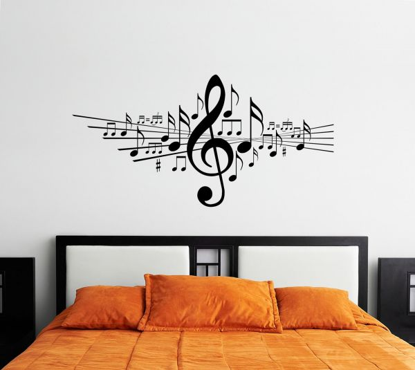 Lovely Music Wall Decals For Living Room, Home Decor, Waterproof Wall Stickers