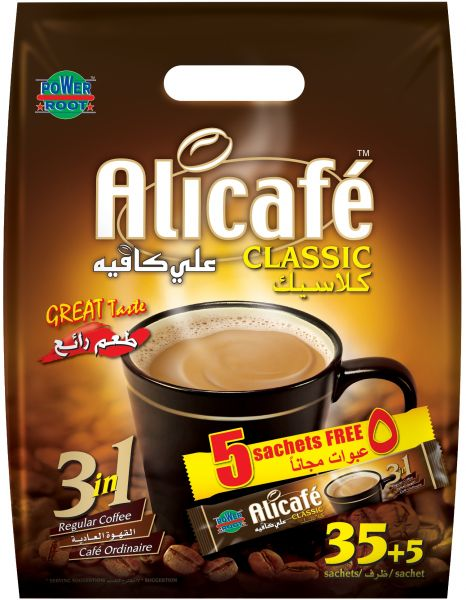Alicafe Clic 3 In 1 Instant Coffee Pack Of 40 Sachets X 20g