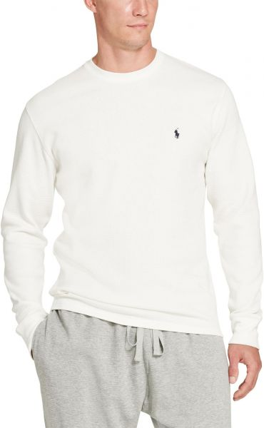9a719ab5 Polo Ralph Lauren Mens waffle-knit thermal Cotton White Long Sleeve ...