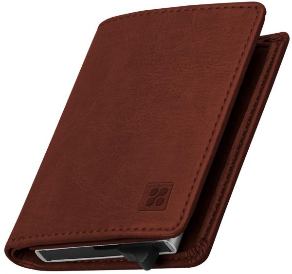 Promate rfid blocking wallet ultra slim bifold leather wallet with promate rfid blocking wallet ultra slim bifold leather wallet with rfid protection and 2 currency pockets for id card credit card business cards reheart Gallery