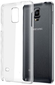 Silicone Back Case Cover By Ineix For Samsung Galaxy Note 4 - CLEAR