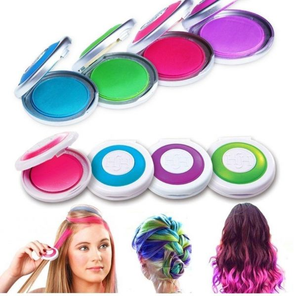 Temporary Kids Hair Coloring Chalk Toy-Set of 4 Colors