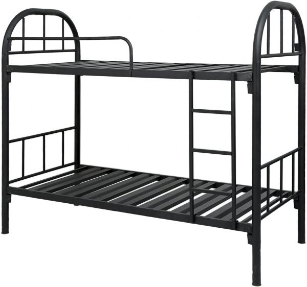 Aft Heavy Duty Full Double Iron Metal Bunk Bed Black 190 L X 90