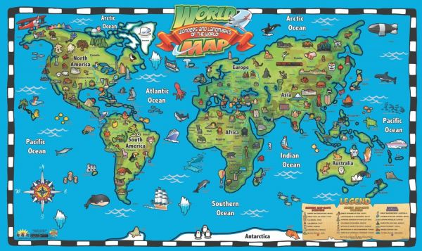 Kids Interactive World Wall Map Ipwm Souq Egypt