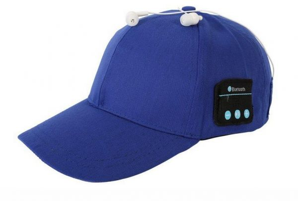 b6224ea69f3 Sport Bluetooth Hat Baseball Cap Wireless Music Hat Smart Music Speaker  Bluetooth Cap -BLUE