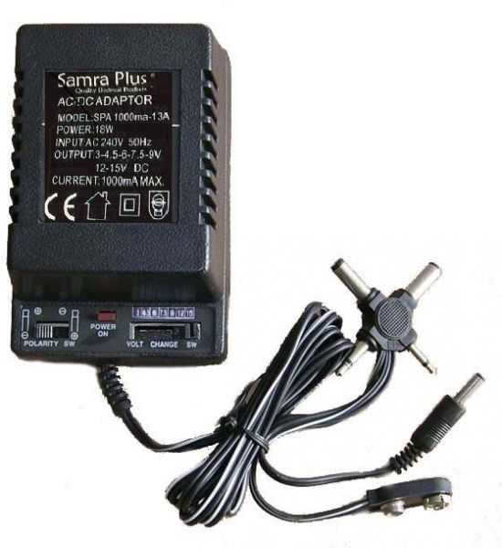 Souq | Multi-volt AC to DC with 3 Pin Plug Power Supply Adapter ...