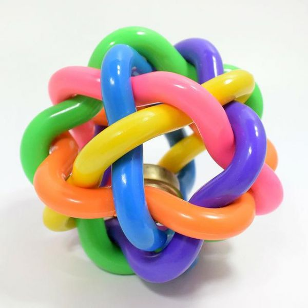 Rubber Ball Dog Toy : Rainbow rubber ball toy for dogs pet store kanbkam