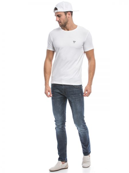 566e211642f8 GUESS M64I52J1300 T-Shirt for Men, Optic White Price in Saudi Arabia ...