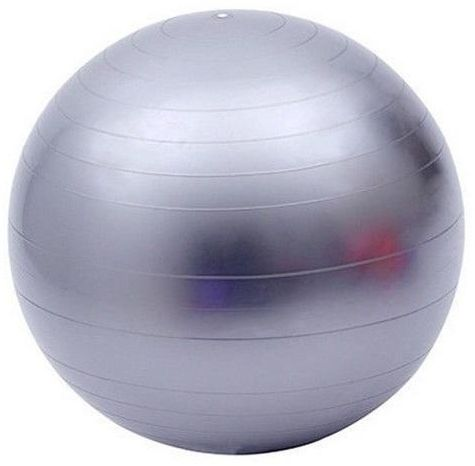 Silver Exercise Body Ball 65cm Yoga Pilates Stability Balance Fitness Gym Workout BTX 3