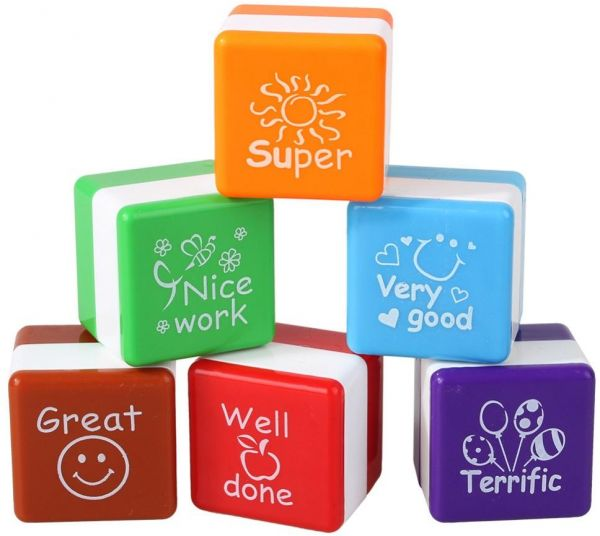 6 Pieces Set Teachers Self Inking Stamps For School Students Reward And Motivation