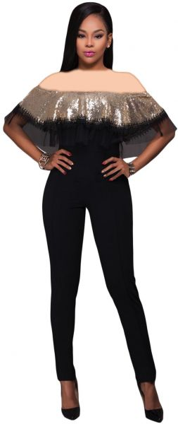 Buy Gold Special Occasion Jumpsuit For Women in UAE 24f7d973d68