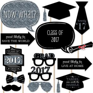 96a1d1429fc Set of 20 Fun 2017 Graduation Party Decoration Photo Booth Props DIY Kits  Graduation Celebration Event Supplies Favor Gifts