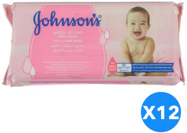 Johnson's Baby Gentle All Over Cleansing Wipes, 672 Count