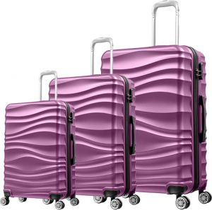 3dfdec2db0 Troley Travel Bags 3Pcs by R and F - Purple - RF-001