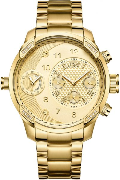 JBW G3 Mens Gold Dial Stainless Steel Band Watch - J6344A