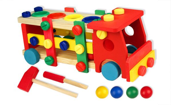 62cdee92c1f7 Multi-functional Wooden Dismantle Loading Educational Toys