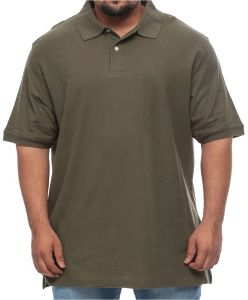 18185eecb Harbor Bay Big and Tall Pique Polo Short Sleeve Shirt for Men - Olive Green