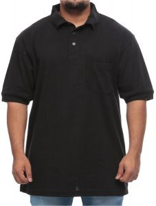 43f156bcf Comfort Zone Big and Tall Dry-Action Short-Sleeve Moisture Wicking Polo  Shirt for Men - Black