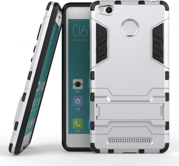 Xiaomi Redmi 3/3S/3 Pro Hybrid Armor Protective Case Housing ShockProof Cover -Silver   Souq - UAE