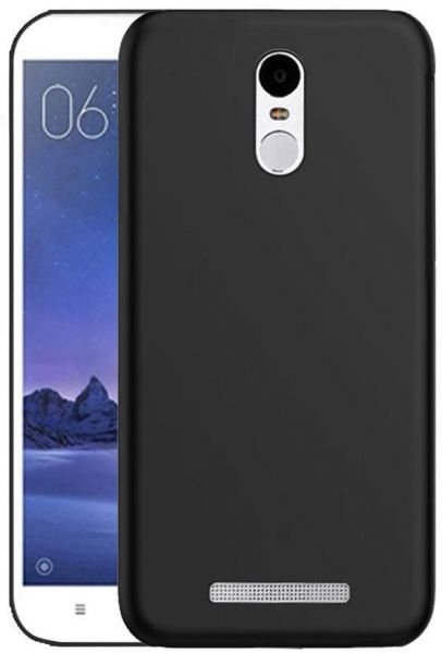 low priced d9045 e8fa1 Silicone Back Case Cover By Ineix For Xiaomi Redmi Note 3 - BLACK