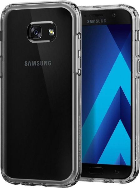 the latest 08498 e6c1a Samsung Galaxy A5 (2017) case, Spigen Ultra Hybrid Crystal Clear