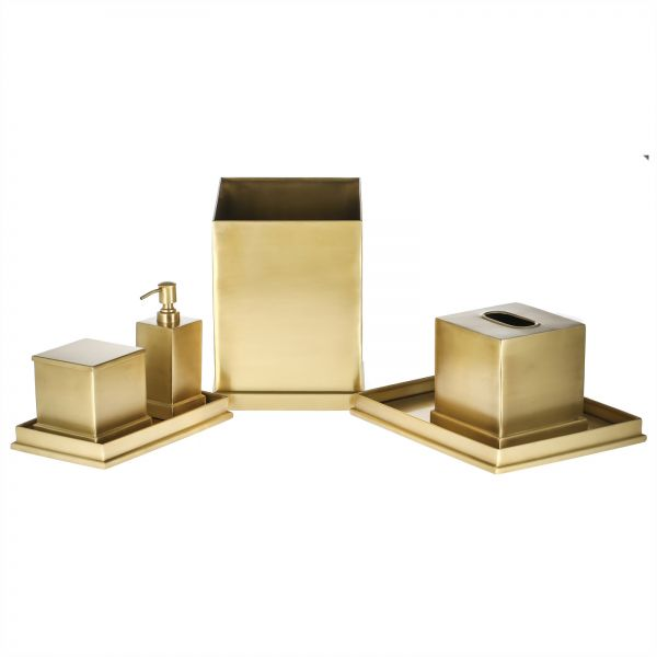 Charmant Brass Bathroom Set, Gold   SLGENBT02