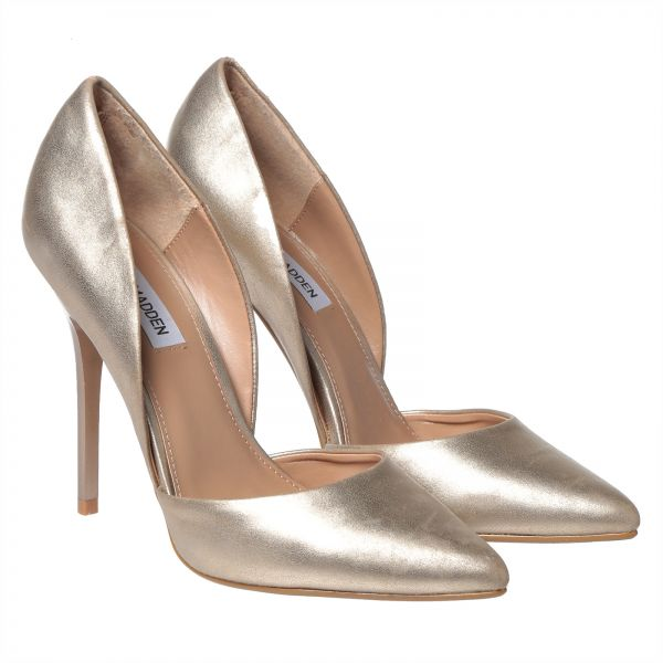 5312ecdc654 Steve Madden Varcityy Heels for Women - Gold