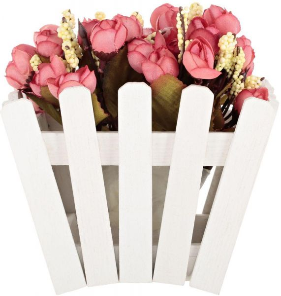 Amytrade Home Decor Artificial Flowers In Wooden Fence Pink Color - Which-artificial-flower-colors-are-good-for-a-home