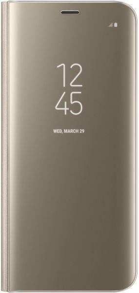 buy online c58d8 b8c7b Samsung Galaxy S8+ Clear View Standing Cover- Gold, Ef- Zg955