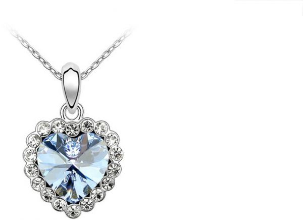 668bc1c0ac Swarovski Elements 18K White Gold Plated Necklace encrusted with ...