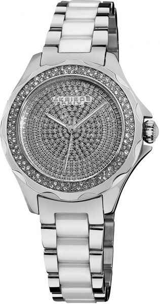 9c880e2c3 Akribos XXIV Swiss Women's Silver-Tone Stainless Steel Band Watch - AK534SS