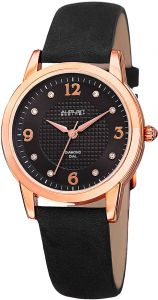 August Steiner Women s Black Dial Leather Band Watch - AS8198BKR 622930b04dacf