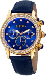 9c4a9303f August Steiner Women's Blue Dial Leather Band Watch - AS8236BU