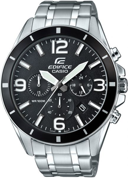 704780dd9 Casio Edifice Men's Black Dial Stainless Steel Band Watch - EFR-553D-1BVUDF