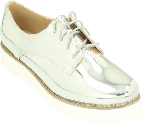 7d90d20442e3 Dejavu Oxford Shoes Women-Silver