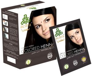 Acara Colored Indian Henna-Natural Black