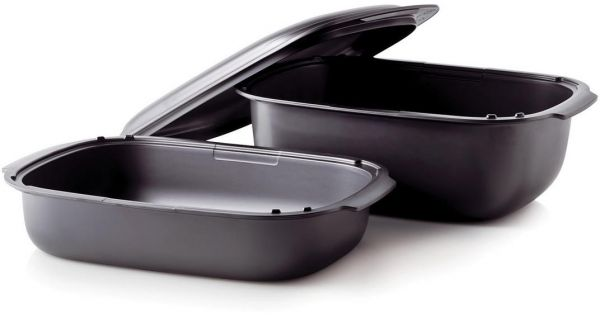 Tupperware Ultra Pro Set 3 Pieces Oven And Microwave Cooking Pots