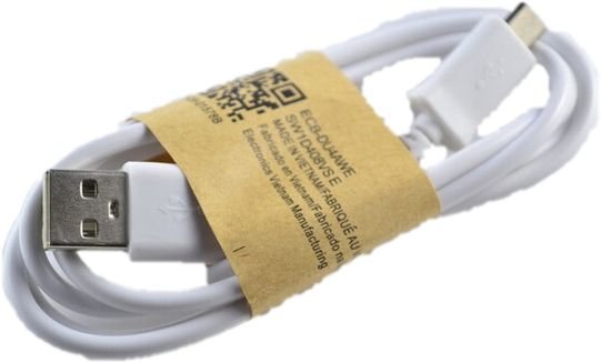 Cable for Samsung mobile 1 meter for charging and data transfer color white Item No 23 - 10