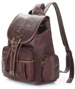0ea9fb71a8 Korean version Fashion Trend Personality Leather double shoulder bag  Backpack for Women HY76