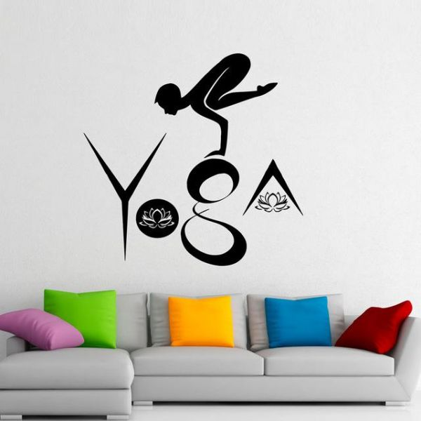 spoil your wall brand, yoga wall decals for living room, home decor