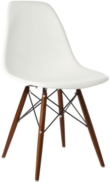 Stupendous Addison Plastic Chair Walnut Wooden Legs White Seat Price Ncnpc Chair Design For Home Ncnpcorg