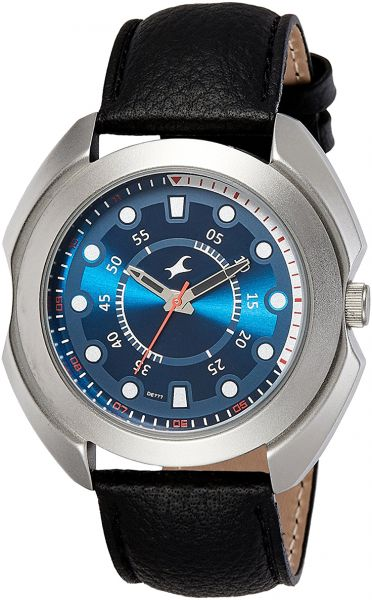 0f3de0aa77 Fastrack Men's Blue Dial Leather Band Watch - 3117SL04 Price in UAE ...