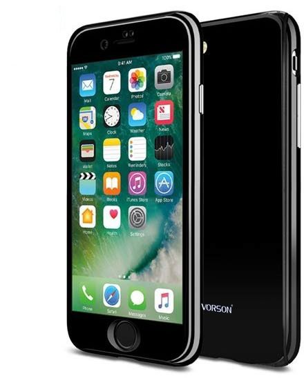 199cd2b07b4 VORSON ULTRA-THIN 360 FULL PROTECTION COVER FOR IPHONE 7 plus jet black