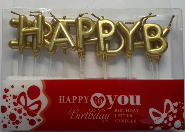 Happy Birthday LETTERS Candles