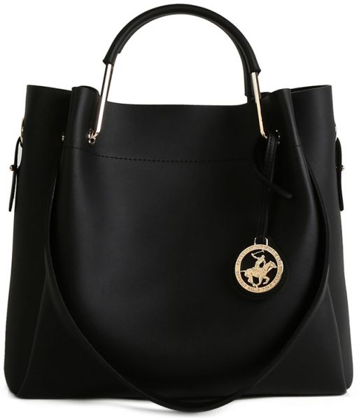 Beverly Hills Polo Club Handbag Set For Women Black