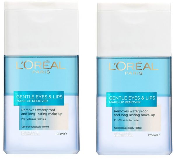L'Oreal De Gentle Eye Makeup Remover - Pack of 2 Pieces (2 x 125ml)