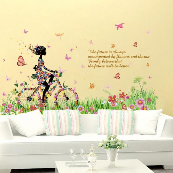 Removable Wall Stickers Combination Sofa Background Wall Decorative ...