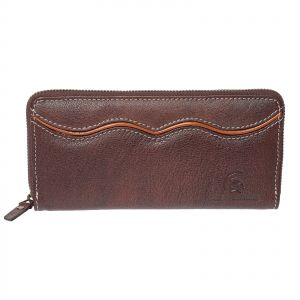 Delphi Leather Las Clutch Wallet Dark Brown