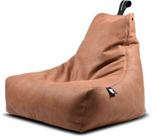 Awe Inspiring Mighty Bbag Leather Bean Bag By Extreme Lounging Tan Brown Pabps2019 Chair Design Images Pabps2019Com