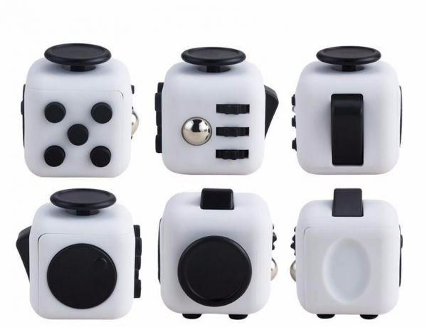 Desk Toy Fidget Cube Relieves Anxiety and Stress Juguete For Adults Squeeze Fun Fidget Cube Desk Spin Toys,white